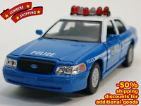Ford Crown Victoria Police Blue Car Сollection Diecast Metal Model Scale 1/43