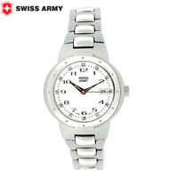 Women's SWISS ARMY BRAND  Steel Date W/R 330 Feet Quartz 31 MM Watch SWISS MADE