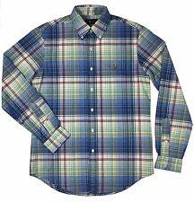 Ralph Lauren Polo Mens Plaid Oxford Button Down Pony Logo Shirt Blue//Yellow New