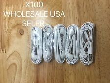 LOT 100Headset Headphone Earphone Samsung Galaxy HTC LG Android Phones WHOLESALE