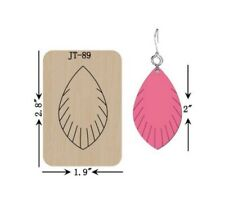 Leather  Earring Cutting  Die / Sizzix Compatible - JT89