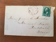 Cover, Garnerville, New York to Westfield, MA, bullseye cancel, 1883