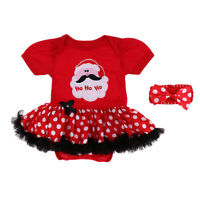 Adorable Reborn Dolls Christmas Clothes Rompers Dress Headband For 22''-23''