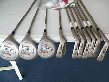 set of 10 WILSON ProStaff LADIES GRAPHITE MIDSIZE GOLF CLUBS/BAG & MISC