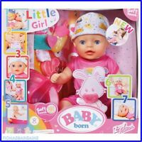 NEW & SEALED Zapf Creation Baby Born Soft Touch 36cms Little Girl Baby Doll