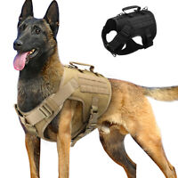 Military Tactical Dog Training Harness for Large Dogs Mesh Molle Service Vest