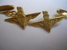 New 9ct Gold PARACHUTE REGIMENT Men's Cufflinks. Excellent Quality