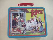 Vintage~ King Features POPEYE Tin LUNCH Box ~ Awesome Condition !