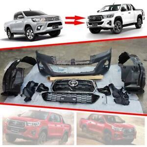 For Toyota Hilux SR unbreakable Front Bumper Upgrade Face lift set Genuine Parts