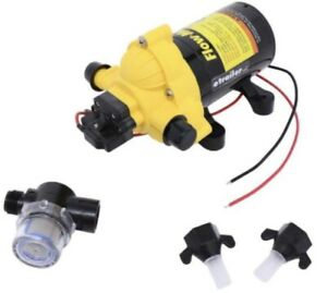 FlowMax Rv Water Pump 12V Flow-MaX 3.3 GPM Self-Priming 50PSI Replaces Shurflo