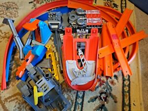 Lot of Hot Wheels Race Track Parts and Pieces