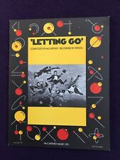 Sheet Music: LETTING GO Paul McCartney (Beatles Wings) Excellent Condition