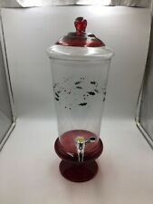 PFALTZGRAFF WINTERBERRY Beverage Dispenser Berry Leaves Glass Serve Jar Pedestal