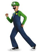 Super Mario Bros Luigi Costume NW FREE SHIPPING W/BUY IT NOW PRICE BOYS LARGE