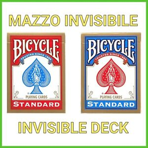 INVISIBLE DECK Giochi di prestigio Magia con le Carte Mazzo Invisibile Bicycle