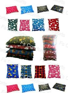 """10 x Large Dog Bed Cushions With Zip 39"""" x 29"""" Assorted Design Job Lot Soft"""