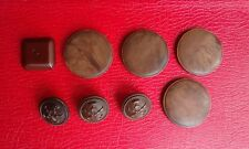 Lot of 8 antique vintage Bakelite buttons tested with formula 409 brown red
