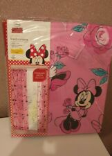 NEW Disneys Minnie Mouse Pink Pencil Pleat Lined Curtains 168cm x 137cm Xmas Gif