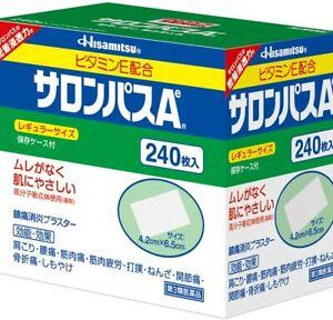 Hisamitsu Salonpas Pain Relieving Patches - 240 Count 4.2cm × 6.5cm Japan Import