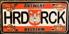"Hard Rock Cafe ANTWERP BELGIUM 2015 LICENSE PLATE Series PIN ""HRD RCK"" #93532"