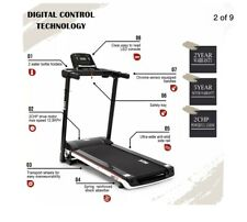 13KM NEW DE Motorised Electric Treadmill Folding Running Machine 2.0HP 1100W