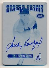 2014 Finest * SANDY KOUFAX * On Card Auto Autograph * PRINT PLATE * #1/1