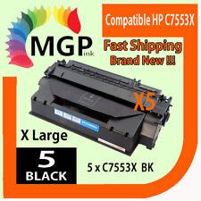 5x Q7553X 53X Toner Cartridge for HP Laserjet P2014 P2015 P2015D M2727 M2727nf