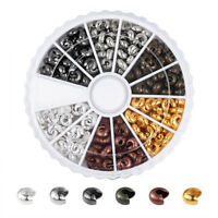 250pcs/box Nickel Free 6 Colors Crimp Beads Covers Mixed Color 5x4mm Hole:2mm