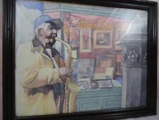 John Boles New Orleans Saxophone Player Street Painting Pastel Artwork Signed