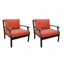 kathy ireland Madison Ave. Club Chair 2 Per Box in Tangerine