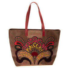 RRP €950 ETRO Tote Bag Large Embroidered 'THE KALEIDOSCOPE PAISLEY' Zip Closure