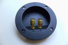 Lautsprecher-Terminal rund vergoldet (2-polig) rot/schwarz Farbring 2 pol