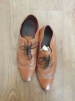 NEXT BROWN LEATHER  LACE UP SHOES SIZE UK 11/ EUR 45 CONDITION USED