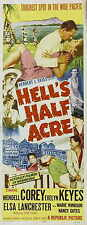 HELL'S HALF ACRE Movie POSTER 14x36 Insert Wendell Corey Evelyn Keyes Elsa