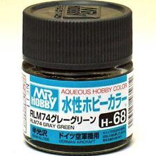 GSI CREOS GUNZE MR HOBBY AQUEOUS COLOR ACRYLIC H68 RLM74 Dark Gray PAINT 10ml