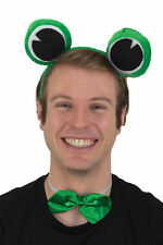 Green Frog Set Eyes On A Headband Bow tie Animal Kit Adult Costume Accessory