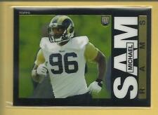 Michael Sam RC 2014 Topps Chrome 1985 Rookie Insert Card # 14 L A Rams Football