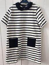 Petit Bateau Fille 5 ans robe marinière neuve