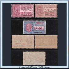 Colonie Italiane 1907-21 Eritrea Espressi n. 1/3 Centrati Nuovi Integri **