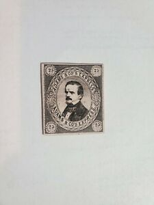 1853 Northern Dist CA US Local Post Stamp Adams & Co.s Express Thick Card Stock