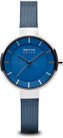 Bering Time Watch - Solar Ladies Blue Dial and Mesh Band 14631-307