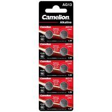 50x Knopfzelle Uhren-Batterien AG13-LR44-157-357-V13GA Hersteller Camelion