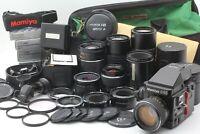 [N.Mint] Mamiya M645 Super Body + 55 80 120 145 210 Lens+ 120 Film Back x2 JAPAN