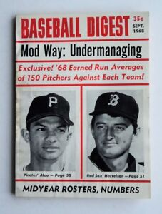 September 1968 Baseball Digest Pirates Alou Harrelson - FLASH SALE