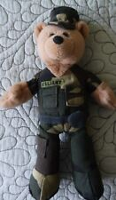 """Limited Treasures 9"""" Army Plush Collectible Stuffed Bear -'Valiant' gift"""