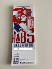 unused season hockey tickets Canadiens featuring Carey Price oct 12