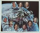 Skylab Crews Signed NASA Lithograph [9] Signatures ''Floating Heads'' Authentic