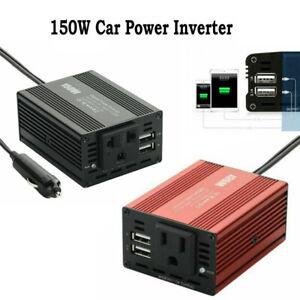 Car Power Inverter Dual USB Charger DC 12V To AC 110/220V Adapter Converter Port