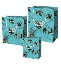 Realtree Camo Party Gift Bag Birthday Anniversary Wedding 3pc Wrapping S M L