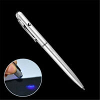 1pcs Spy Invisible Ink Pen Security UV Light Magic Marker Secret Message Bag